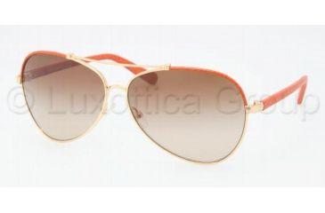 Tory Burch TY6021Q Sunglasses 396/13-6212 - Orange Gold Frame, Brown Gradient Lenses