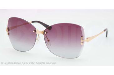 Tory Burch TY6030 Sunglasses 1064Q-61 - Gold Frame, plum grey gradient Lenses
