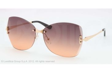 Tory Burch TY6030 Sunglasses 10695-61 - Gold Frame, grey orange faded Lenses