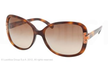 Tory Burch TY7022 Progressive Prescription Sunglasses TY7022-936-13-59 - Lens Diameter 59 mm, Frame Color Amber Tort