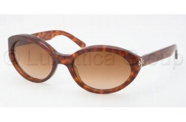 Tory Burch TY7040 Single Vision Prescription Sunglasses TY7040-838-13-5719 - Lens Diameter 57 mm, Frame Color Amber Tort