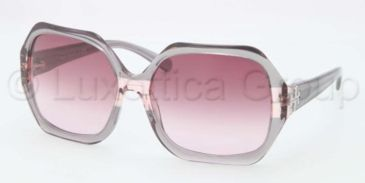 Tory Burch TY7051 TY7051 Sunglasses 11288H-5815 - Grey Rose Striped Frame, Burgundy Gradient Lenses