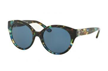 485cad7cc2b1 Tory Burch TY7087 Sunglasses 314580-52 - Blue Brown Tort Frame, Dark Blue  Solid