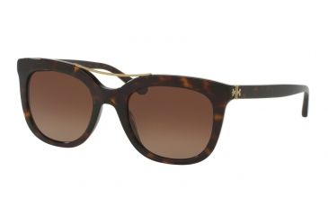 e9cec43b5182 Tory Burch TY7105 Sunglasses 1378T5-53 - Dark Tortoise Frame, Brown  Gradient Polarized Lenses