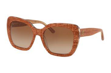 9ba744176ae Tory Burch TY7127 Sunglasses 173713-56 - Papaya Crystal On Raffia Frame