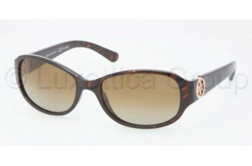 Tory Burch TY9013 TY9013 Sunglasses 510/T5-5617 - Dark Tortoise Frame, Brown Gradient Polarized Lenses