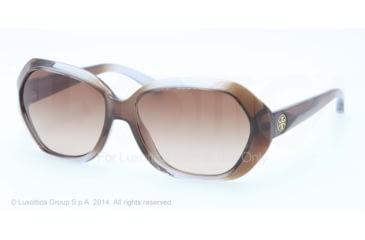 Tory Burch TY9021 TY9021 Single Vision Prescription Sunglasses TY9021-127113-57 - Lens Diameter 57 mm, Frame Color Grey Brown Hombre
