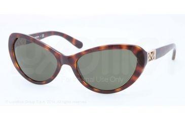 34023848327b Tory Burch TY9030 Sunglasses 51071-59 - Dk Tortoise Frame, Solid Green  Lenses