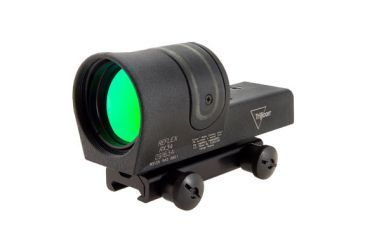 Trijicon 42mm Reflex Amber 4pt5 Moa Dot Reticle Sight Black W Ta51 Flattop Mount Rx34a 51 Front V1