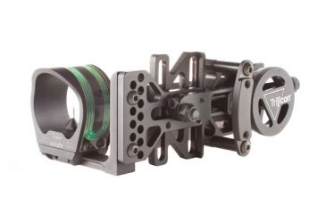 Trijicon AccuPin Bow Sight Green with AccuDial Mount Left Handed