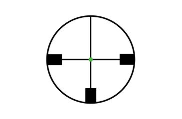 Trijicon AccuPoint 1-4x24 30mm Tube Riflescope, German #4 Crosshair w/ Green Dot