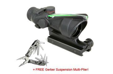 Trijicon ACOG 4x32 Scope, Dual Illuminated Green Horseshoe/Dot 6.8 Ballistic Reticle w/TA51 Mount w/ FREE Gerber Suspension Multi-Plier