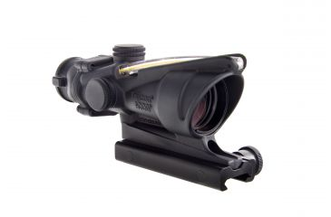 Trijicon ACOG 4x32 Illuminated Riflescope, Amber Chevron BAC Reticle, Flattop TA51 Mount