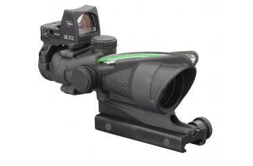 Trijicon ACOG 4x32 Riflescope, Dual Ill Green Chevron .223 Ballistic Reticle, 4.0 MOA RMR Sight, TA51 Mount