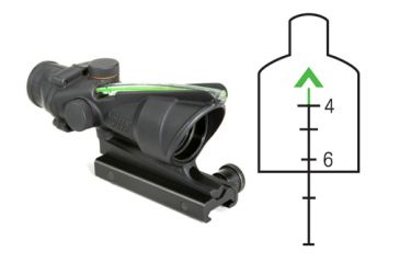 Trijicon ACOG 4x32 Optical Combat Scope - Green Chevron Reticle