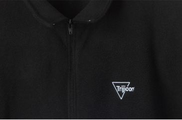 Trijicon Men's Fleece Full-Zip Jacket w/ Trijicon Logo, Black, Medium AP47M