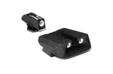Trijicon GL11 Glock Pistol 3 Dot Front & Novak Rear Night Sight Set