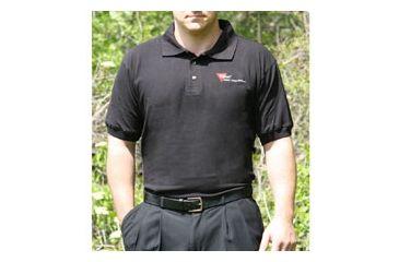 Trijicon Polo Shirt w/2 Color Trijicon Logo - Small, Black AP19S