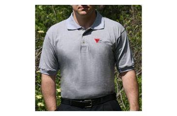 Trijicon Polo Shirt w/3 Color Trijicon Logo - Small, Gray AP18S