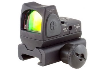 Trijicon Rmr Sight Adjustable Led 3pt25 Moa Red Dot Sight W Weaver Rail Mount Rm06 34w Front V1