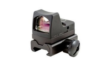 Trijicon Rmr Led 3pt25 Moa Red Dot Sight Black Weaver Rail Mount Rm01 34w Front V1