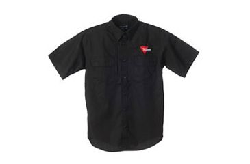 Trijicon Short Sleeve Tactical Shirt with Logo, Black, X-Large AP27-XL