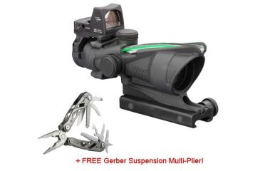 Trijicon ACOG 4x32 Scope, 4.0 MOA RMR Sight, FREE Gerber Suspension Multi-Plier