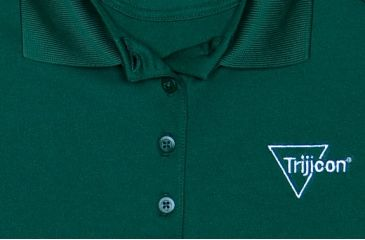 Trijicon Women's Short Sleeve Polo Shirt w/ Trijicon Logo, Green, Extra Large AP54-XL