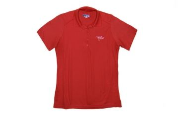 Trijicon Women's Short Sleeve Polo Shirt w/ Trijicon Logo, Red, Small AP55-SM