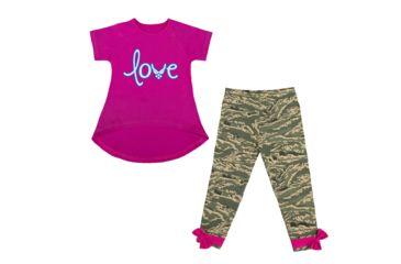 f505dbaedee2a Trooper Clothing Air Force Love 2 Piece Toddler Legging Set - Girls, Pink/ ABU