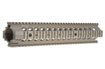 Troy 12 in. Modular Rail Forend for rifle length gas systems - Flat Dark Earth