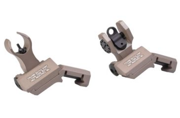 1-Troy 45 Degree Offset Folding BattleSights For HK Front And Round Rear Flat Dark Earth SSIG-45S-HRFT00