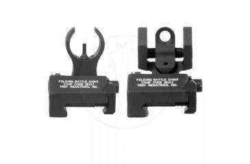 Troy Micro - M4 Front & Doa Rear Folding Sights - Black SSIG-MCM-SSBT-00