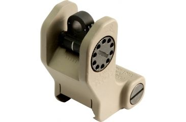 Troy Rear Tritium Fixed Battle Sight-Flat Dark Earth SSIG-FRS-RTFT-00