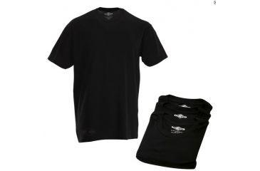 Tru-Spec Mens Comfort Cotton Short Sleeve T-Shirt, 3-Pack, Black, Small 4226003