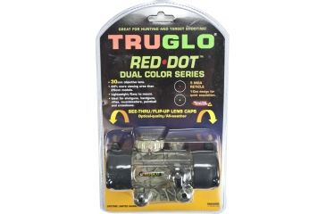 TruGlo Dual Color 40mm and 30MM Red Dot Sights Dual Color, Red Dot Sizes TruGlo Dual Color 30mm Camo Red Dot Sight