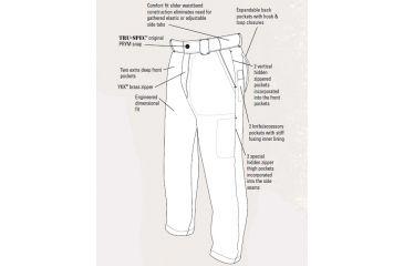 Tru-Spec 24-7 Series Mens Classic Pants - Diagram