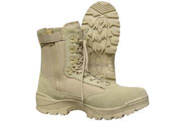 Tru-Spec Tru Boots Tan Zipper Tact, 5R 4054004