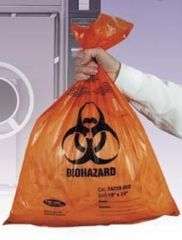 Tufpak Autoclavable Biohazard Bags, 2.0 mil 14220-048 Orange Bags With Indicator