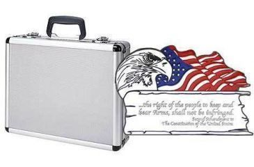 T.Z. Case 2nd Amendment 4-8 Pistol Promo Case 18x13x6in, Silver TZ0301SD2