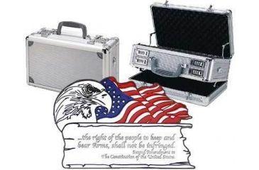 3-TZ Case 2 Amendment Duelly Fifthteen Gun Case 15x9x7in, Silver TZ0015SS2