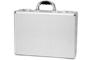 TZ Case AN908 Aluminum Briefcase, 18.25x13x5in - Silver Stripes AN-908SS