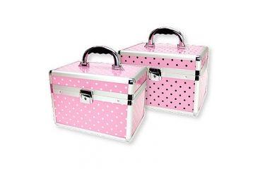 TZ Case Small Makeup Kit - Pink White Dot AB68PWD