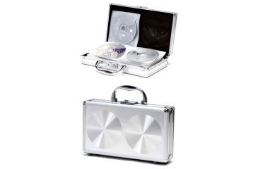 TZ Case CD240 Large Aluminum CD/DVD Case - Smooth Silver Circle CD-240DSC