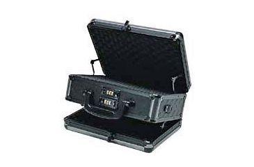 T.Z. Case Ironite Series Alumitech Diamond Plate Black Finish Pistol Case 12.5x9x6, Black TZ0012DPI