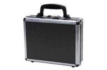 TZ Case Ironite Alumitech Diamond Plate Single Pistol Case 11.5x9x3.25in, Black TZ0011DPI