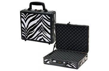 T.Z. Case Pro-Tech 11.5x 9x3.25 Single Pistol Case, Zebra