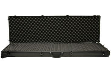 Tz Case Tzm0053bd Double Rifle Case Black Dot Finish 53in X 15in X 5in Open