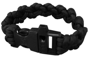 Ultimate Survival Paracord Bracelet w/Whistle, Para 550, Black UST-295W-BK