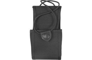 Uncle Mike's Laminated Radio Case, 1.75x2.875x3.75in - Swivel Belt Loop, Kodra Black 8898-2